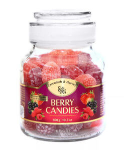 Caramelos en Frasco Cavendish and Harvey Berry Candies 300gr Frutos Rojos